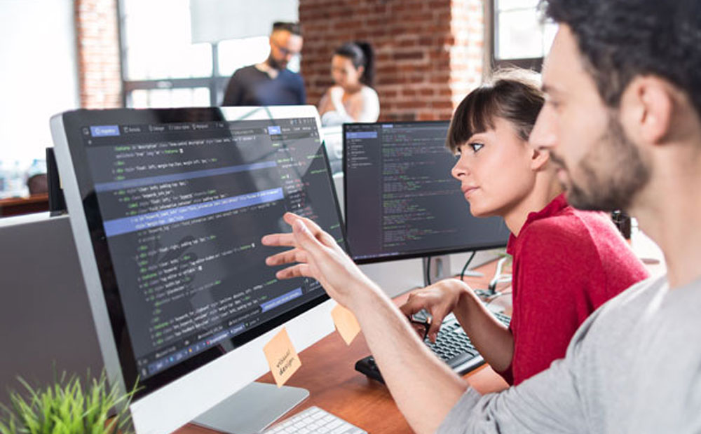 Software developers using Asp.Net to develop applications